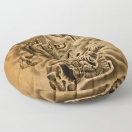 Hannya Dragon Floor Pillow