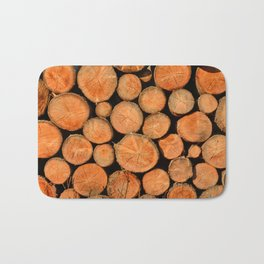 stack of wood Bath Mat