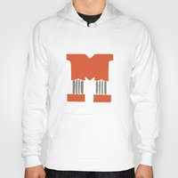 lettering Hoodies featuring M Lettering by Mallory Ming