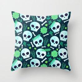 Skullies Throw Pillow