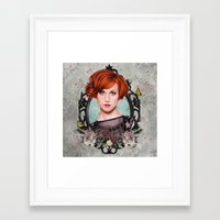 hayley williams Framed Art Prints featuring Hayley Williams  by Will Costa