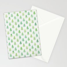 Simple Pine Tree Forest Pattern Stationery Cards