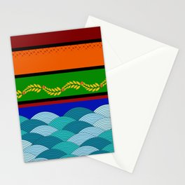 line and wave Stationery Cards