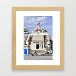 Falcon 102 SuperYacht Framed Art Print