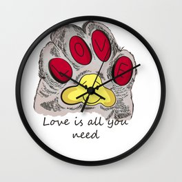 Cat's paw Wall Clock