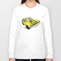 ford Long Sleeve T-shirts featuring Ford Capri by Ricardo Reis Illustration