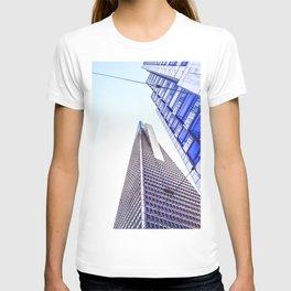 pyramid building and modern building at San Francisco, USA T-shirt