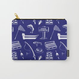 Gone Fishing // Midnight Blue Carry-All Pouch