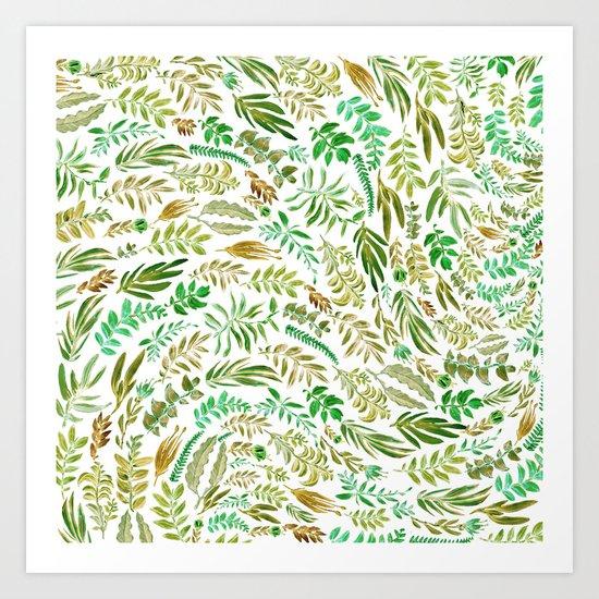 green wave Art Print