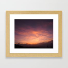 Oaxacan sunrise Framed Art Print
