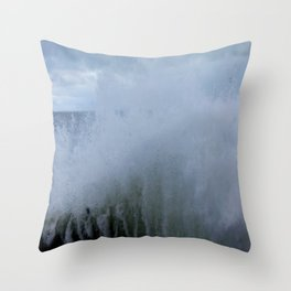 A Gale to Blow the Year Out #2 (Chicago Waves Collection) Throw Pillow