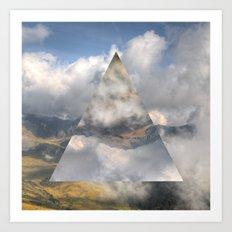 Clouds & Mountains Art Print
