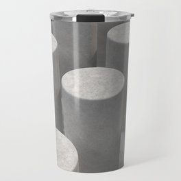 Concrete with cylinders Travel Mug