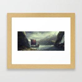 VIKINGS-JOURNEY Framed Art Print