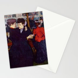 "Henri de Toulouse-Lautrec ""Two Woman Waltzing"" Stationery Cards"