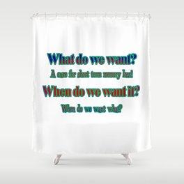 "Funny ""Short Term Memory"" Joke Shower Curtain"