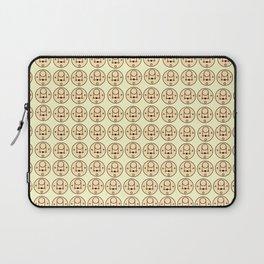 Beige Bear Pattern Laptop Sleeve
