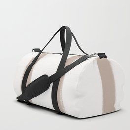 Medium Brush Strokes Vertical Nude on Off White Duffle Bag