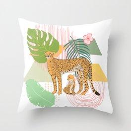 Cheetah #1 Throw Pillow