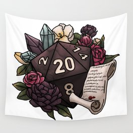 Warlock Class D20 - Tabletop Gaming Dice Wall Tapestry
