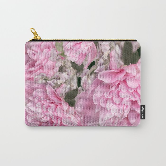 Pink Bouquet On A Black Background #decor #society6 #buyart Carry-All Pouch