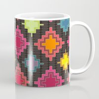 kilim Mugs featuring kilim bold by Sharon Turner