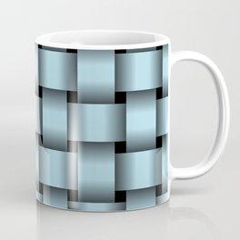 Large Light Blue Weave Coffee Mug