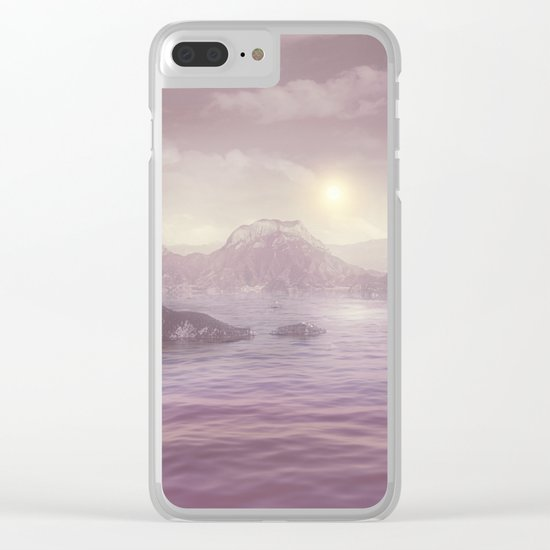 Pastel vibes 63 Clear iPhone Case