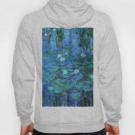 Claude Monet Water Lilies BLUE Hoody