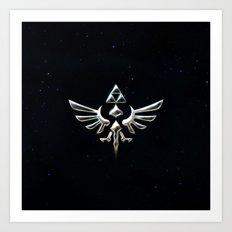 Zelda TRIFORCE Art Print
