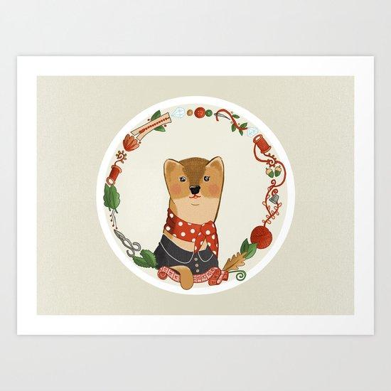 The Dressmaker Weasel Art Print