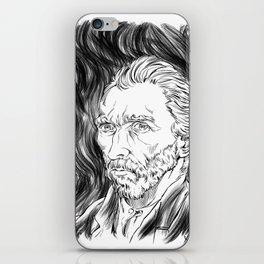 Van Gogh in black iPhone Skin