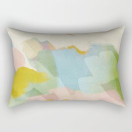 pastel fields abstract landscape Rectangular Pillow