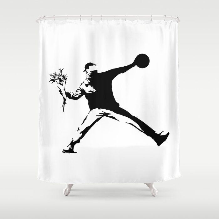 TheJumpmanSeries Banksy Shower Curtain