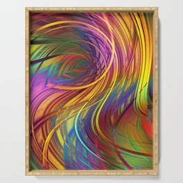 Color  Strings in the Wind Serving Tray