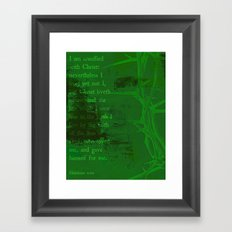 UNLIKELY CROWN (Galatians 2:20) Framed Art Print