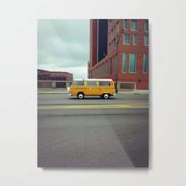Yellow Bus Metal Print