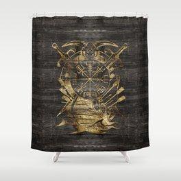 Vegvisir - Viking  Navigation Compass Shower Curtain