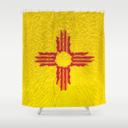 Extruded flag of New Mexico Shower Curtain