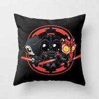 dark side Throw Pillows featuring Dark Side by Dooomcat