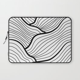 Abstract waves / black & white Laptop Sleeve
