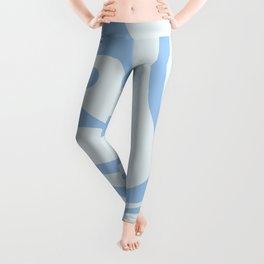 Soft Liquid Swirl Abstract Pattern Square in Powder Blue Leggings