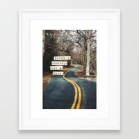 journey Framed Art Prints featuring Journey by Brandy Coleman Ford