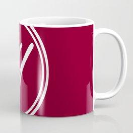 Monogram - Letter Y on Burgundy Red Background Coffee Mug