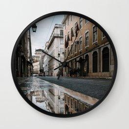 Reflections of Lisbon Wall Clock