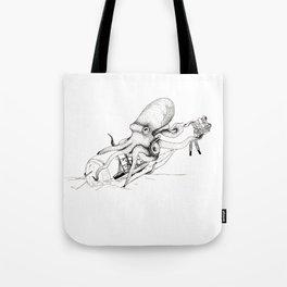 Kraken and the Ship Tote Bag