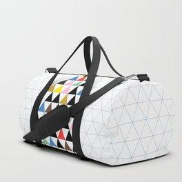 Geometric Christmas Tree Duffle Bag