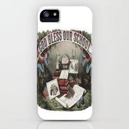 GOD BLESS OUR SCHOOL Pop Art iPhone Case