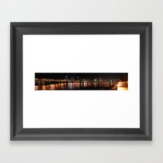 reflections of portland Framed Art Print