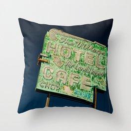 Barstow Village Hotel Throw Pillow